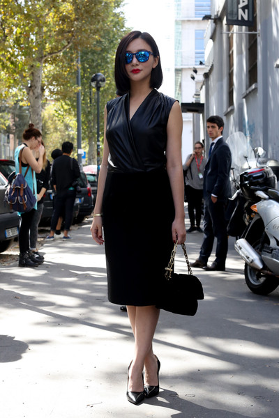 Black Dress and Black Handbag/ ImaxTree