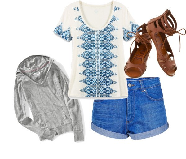 Boho-chic Outfit Idea with Denim Shorts