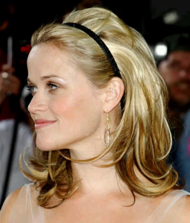 Bouffant Hairstyle with Simple Headband
