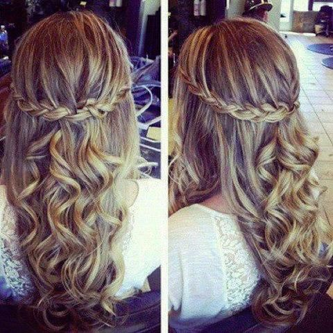 Groovy Curly Hairstyles For Prom With Braid Braids Short Hairstyles Gunalazisus