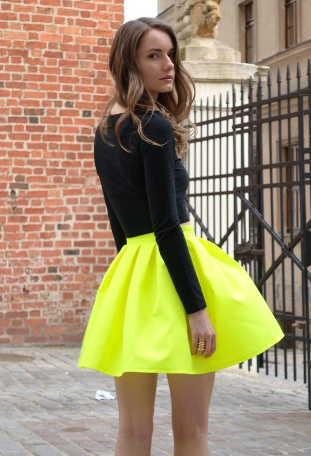 Bright Colored Skirt Outfit