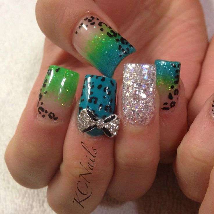 3d nail designs for this week pretty designs bright green nails prinsesfo Images