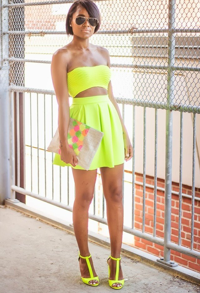 Bright Yellow Outfit for Summer