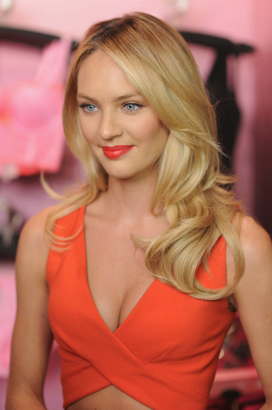 Candice Swanepoel Long Curls