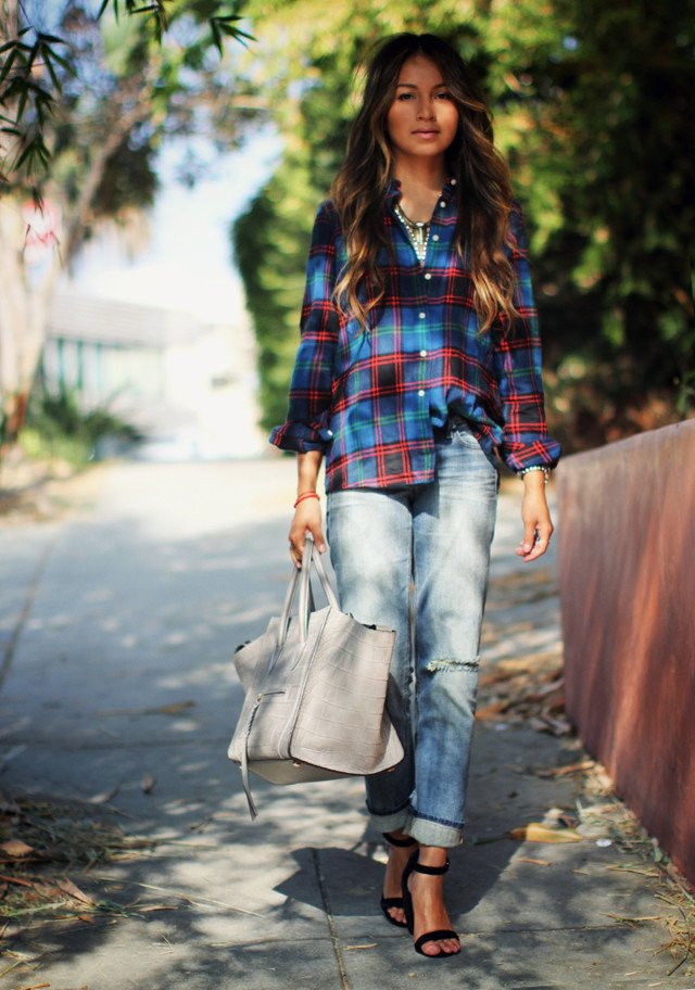 Casual Outfit with Ankle Strap Shoes