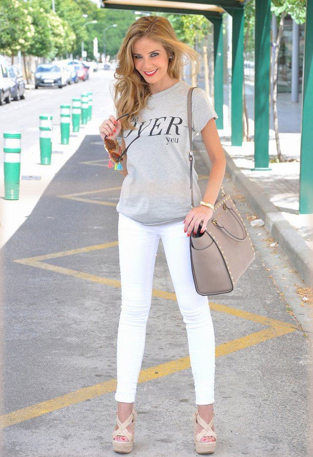 Casual White Jeans Outfit Idea