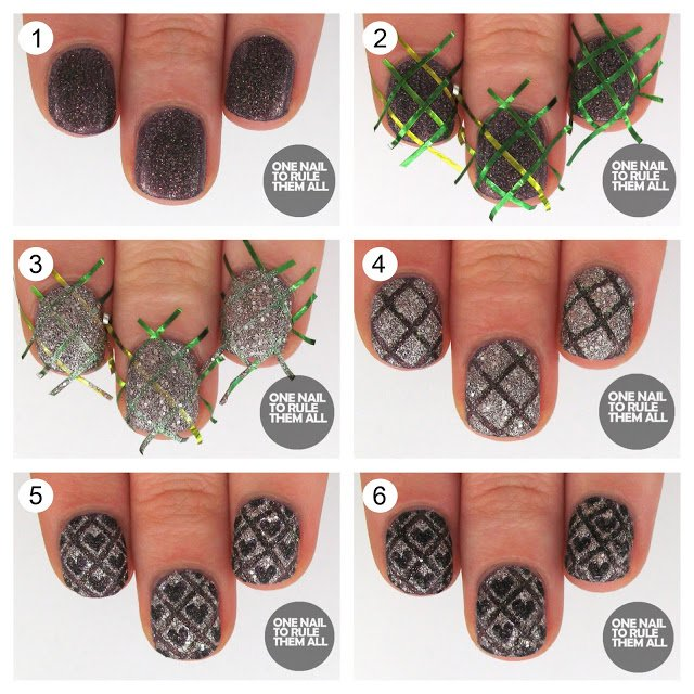 Checked Nail Design