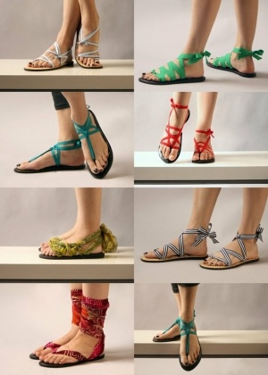 Colorful DIY Sandals