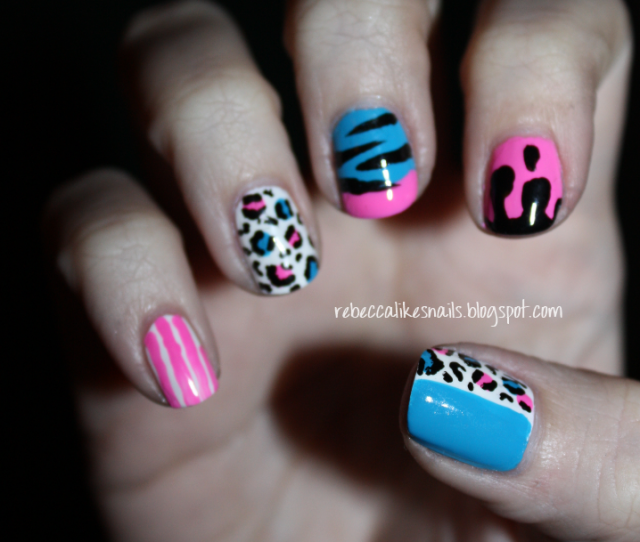 Colorful Mismatched Nail Designs