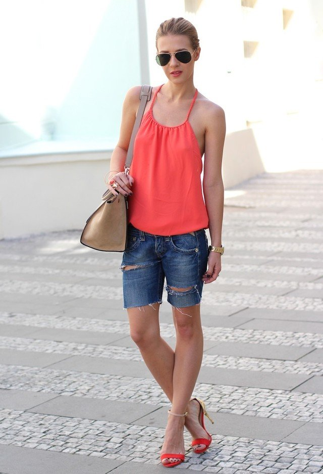 Cool Summer Outfit with Orange Vest