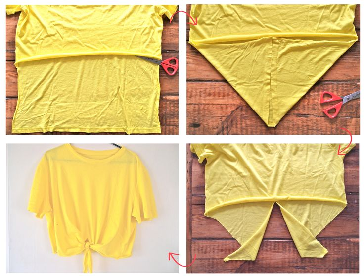 5efe6dd6f4c Upgrade your T-shirts: DIY Crop Tops - Pretty Designs