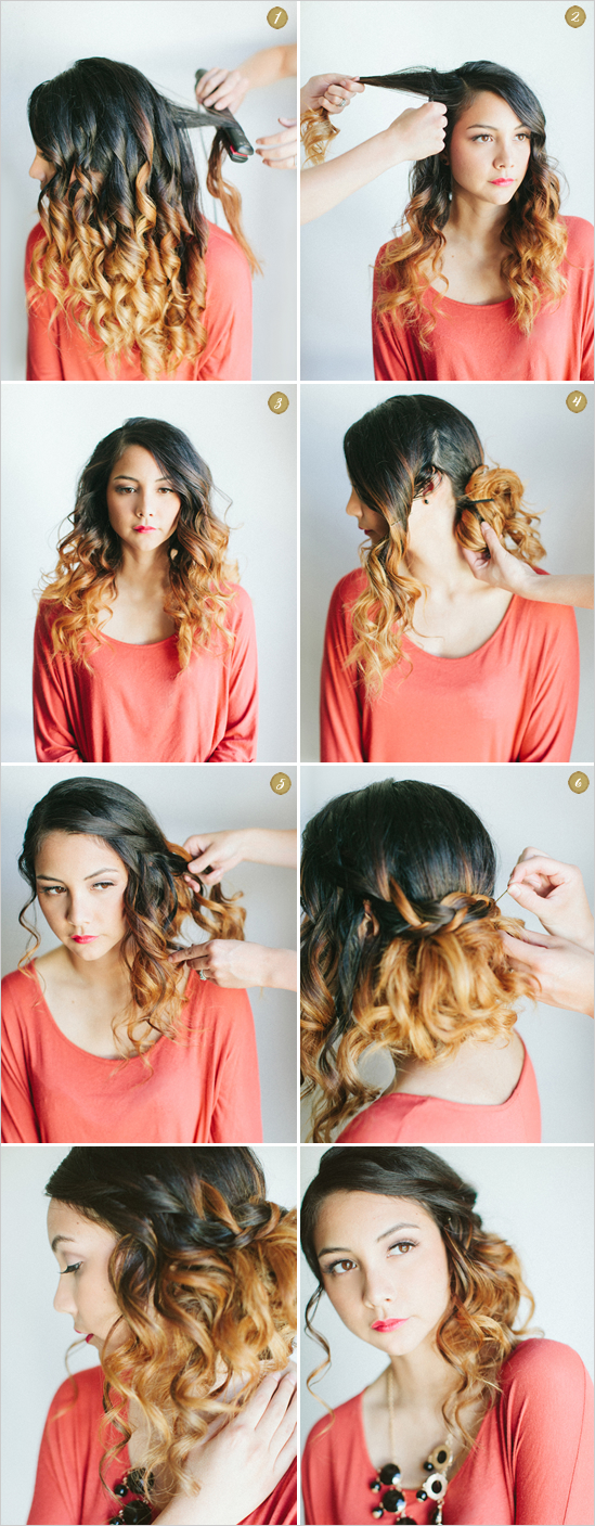 Curly Side Waterfall Braid