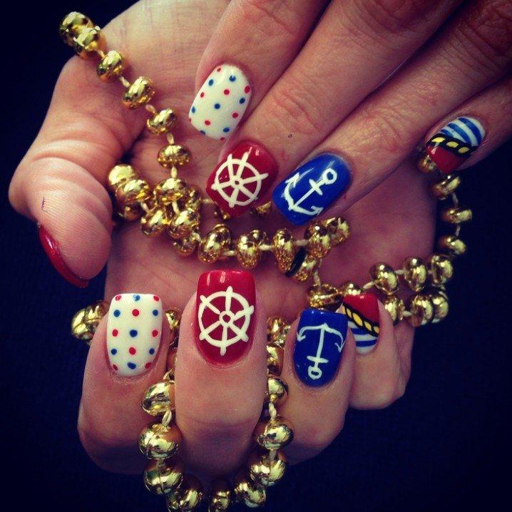 Cute Nautical Nails