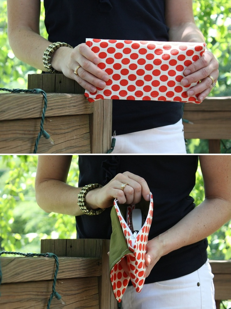 DIY Clutch with Dots