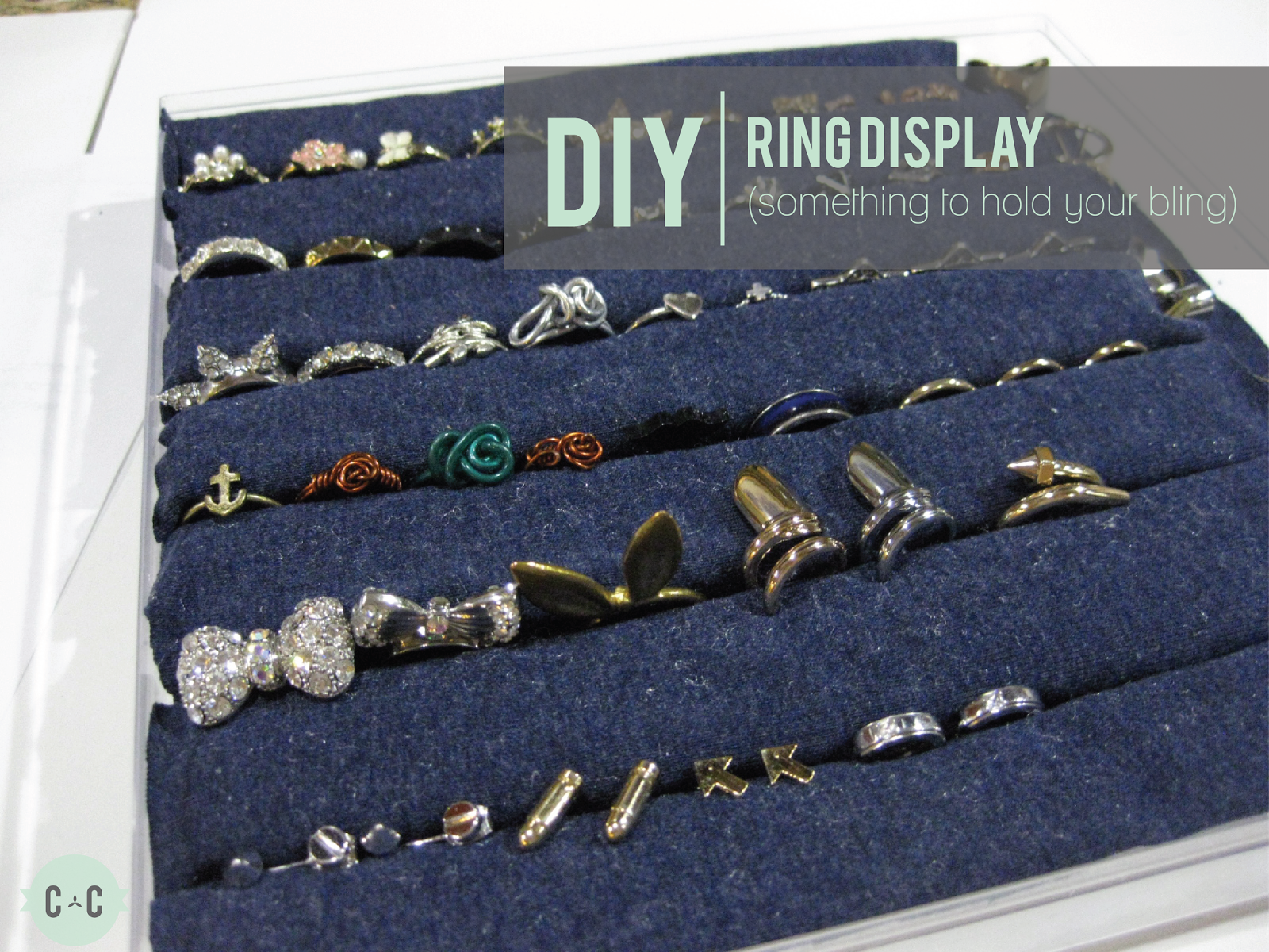 Diy projects how to make ring organizers pretty designs diy ring display solutioingenieria Image collections