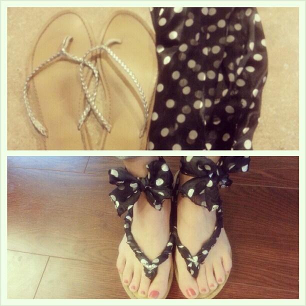 DIY Scarf Sandals