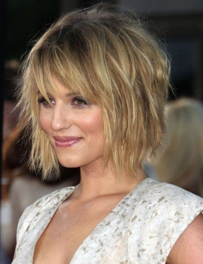Dianna Agron Messy Bob Hairstyle