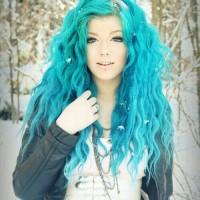Dramatic Blue Hair