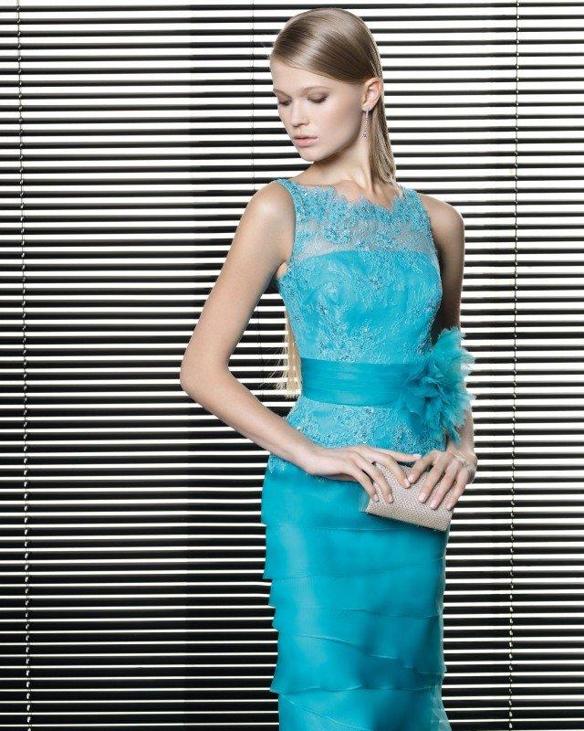 Elegant Blue Dress by Rosa Clara