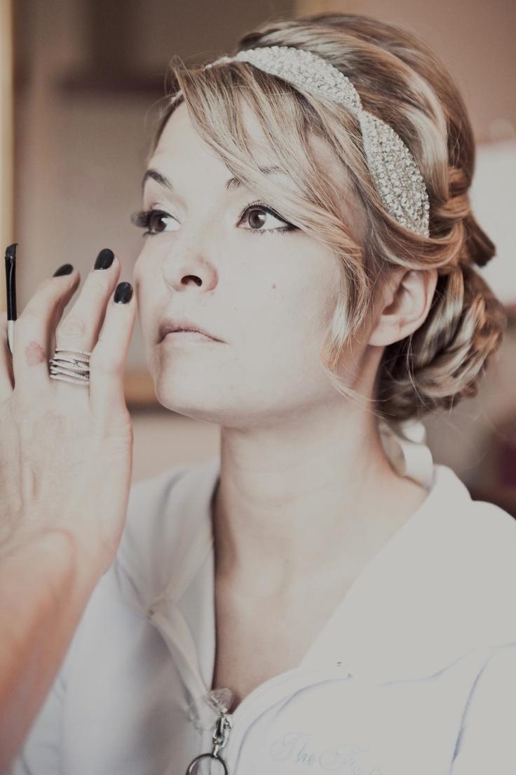 Elegant Hairstyle with Embellished Headband