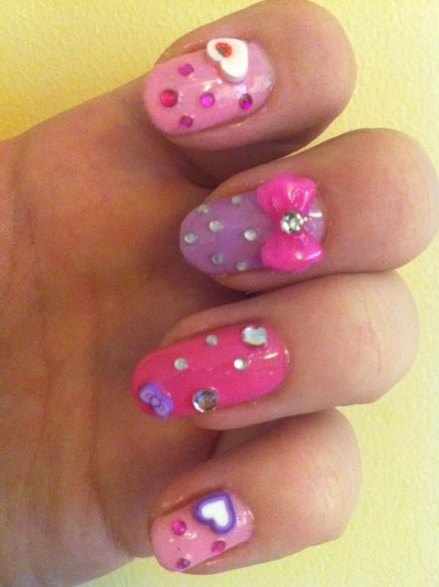 Embellished Pastel Nail Design