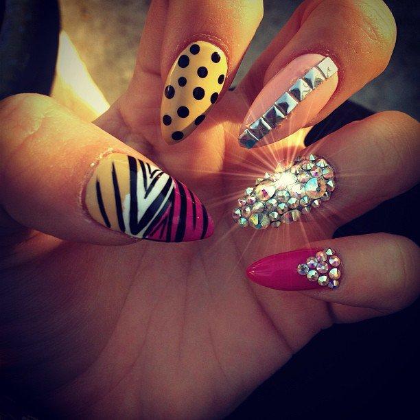 Embellished Stiletto Nails