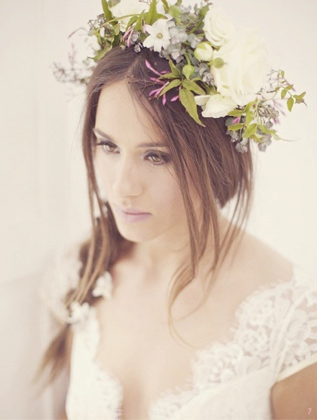Fairy Braided Wedding Hairstyle with Flowers