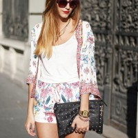 Fantastic Flower Printed Outfit