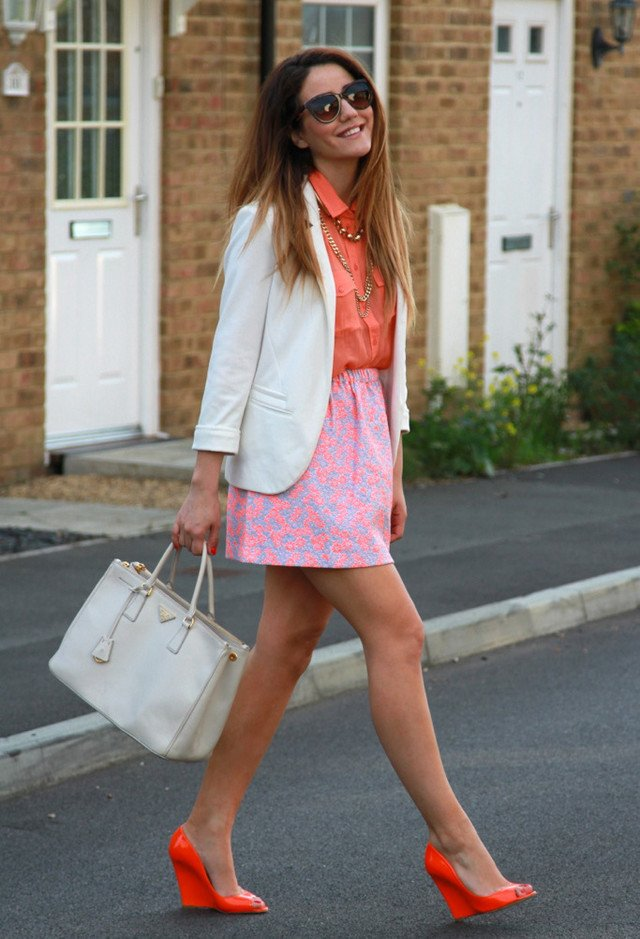 Fashionable Outfit Idea with Orange Blouse