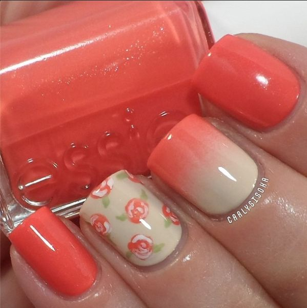 Nail designs with coral color coral nails nail art designs pink nail designs with coral color amazing coral nail designs for the season pretty prinsesfo Gallery