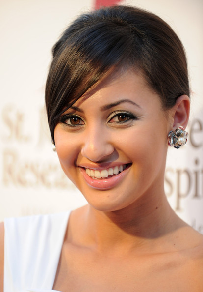 Francia Raisa Back Bun and Pearl Studs