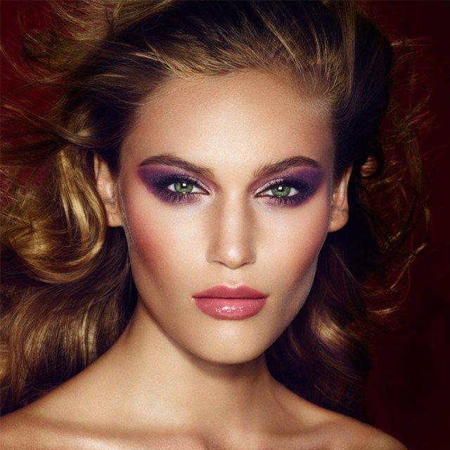 Glamorous Purple Makeup Idea