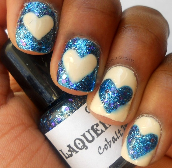 Glittering Mismatched Nail Designs
