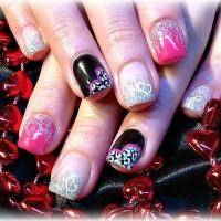 Glittering Nail Design