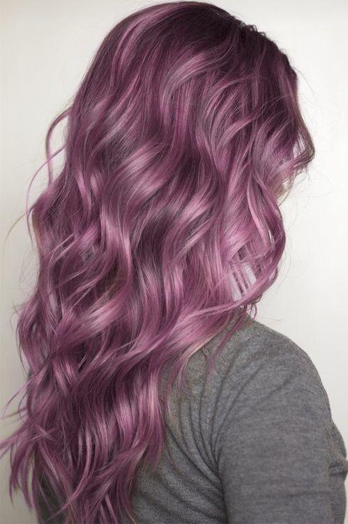 Glossy Purple Curls