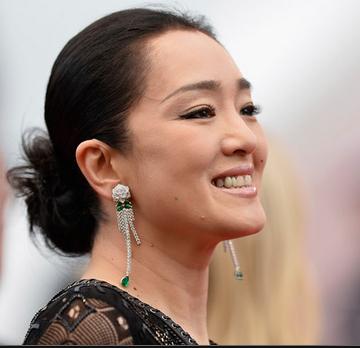 Gong Li Twisted Bun Hairstyle