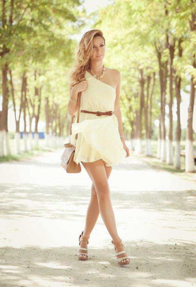 Graceful White Dress for Summer