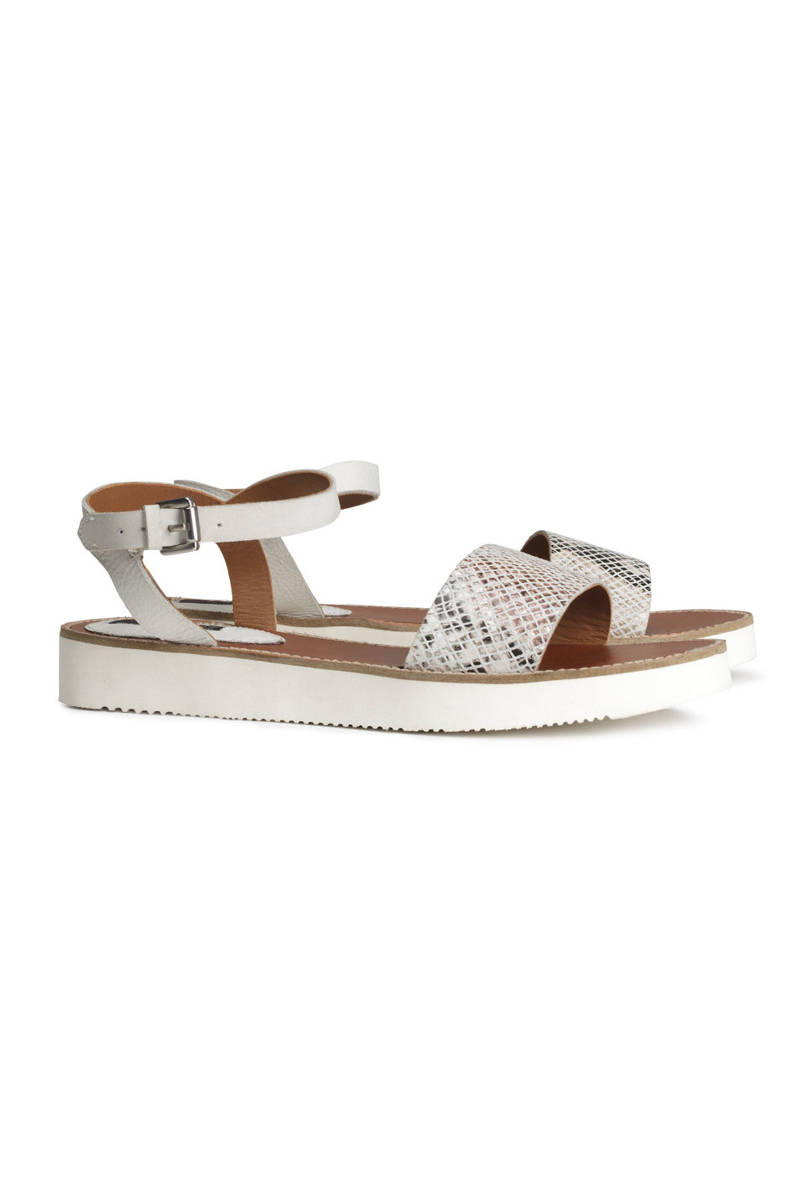 H&M Leather Sandals, $49.95