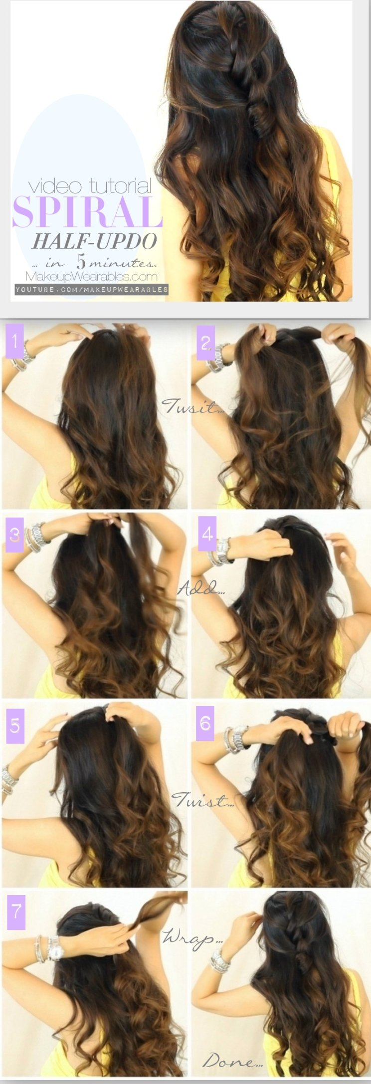 12 half up half down hair tutorials you must have - pretty designs
