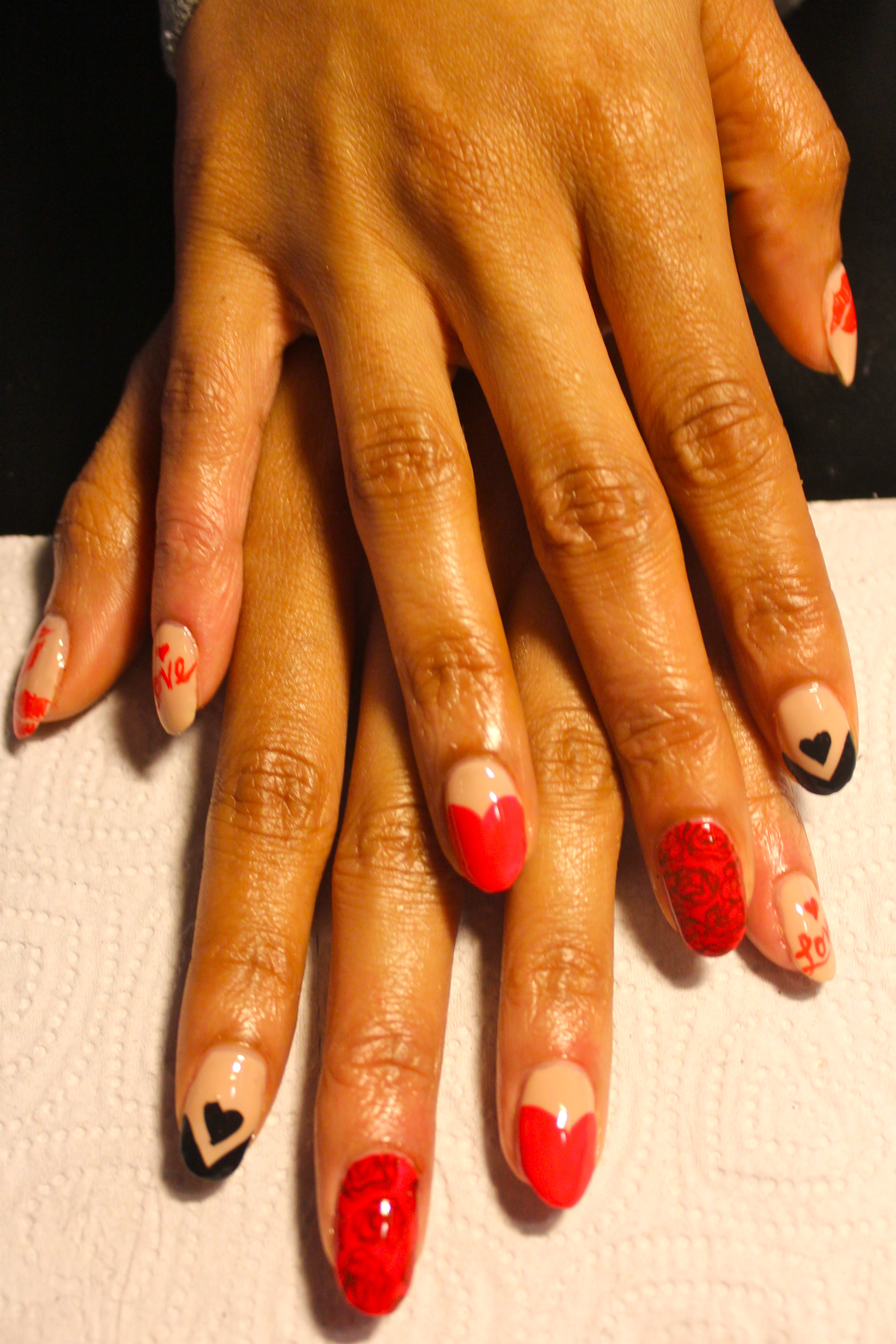 Nude Heart Nail Designs