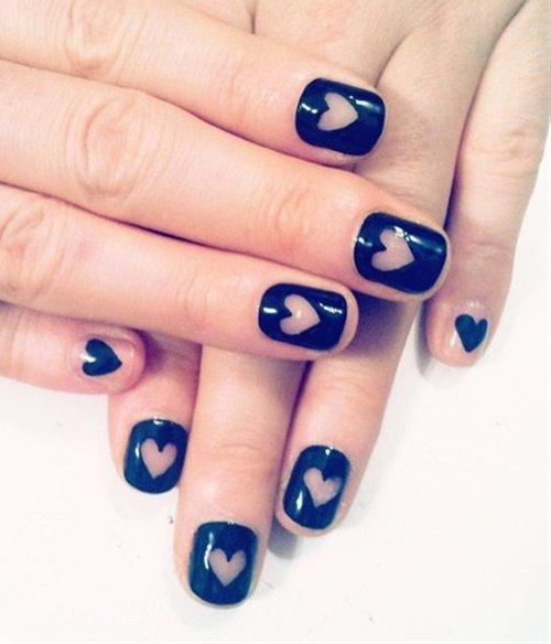 Black Heart Nail Designs