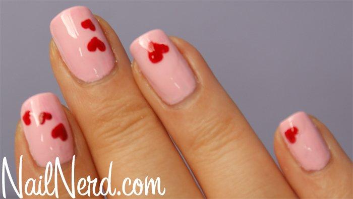 Pink Heart Nail Designs