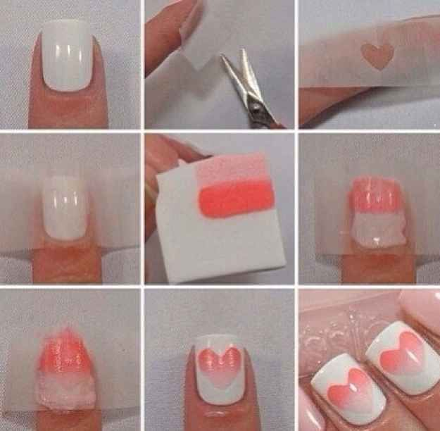 Heart Shape Nails