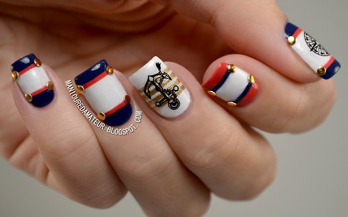 Summer Nail Designs To Have Nautical Nails Pretty Designs
