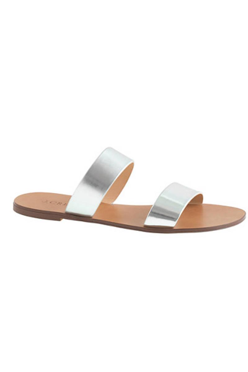 J. Crew Malta Mirror Sandals, $78