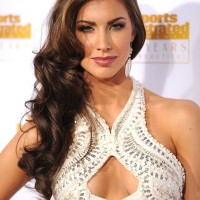 Katherine Webb Side-swept Hairstyle