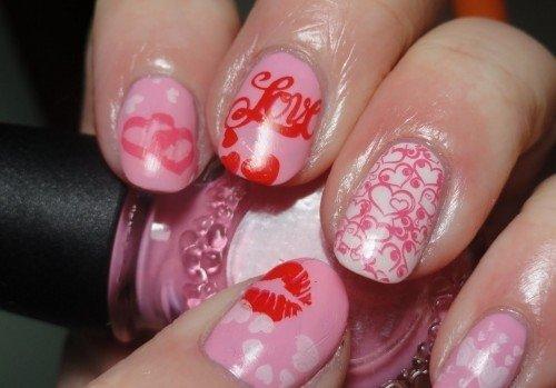 Pink Kiss Nail Designs