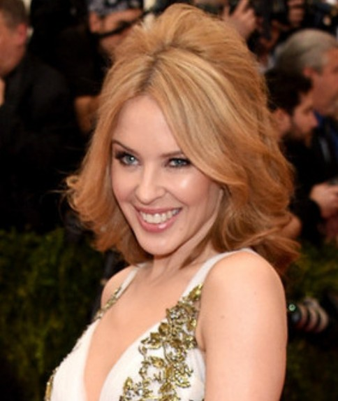 Kylie Minogue Half Updo