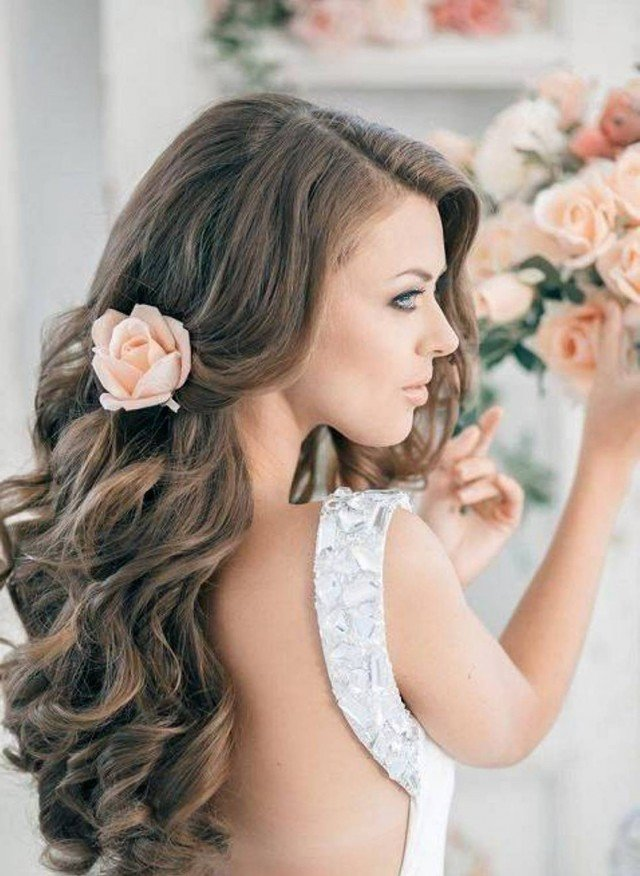 Long Wavy Hairstyle for Wedding