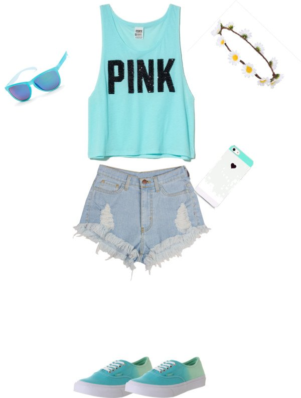 Lovely Outfit Idea with Denim Shorts